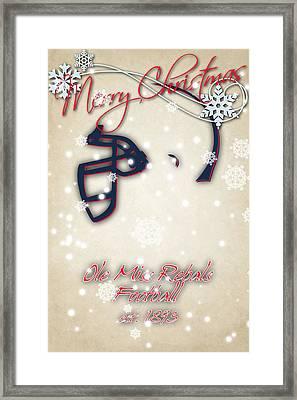 Ole Miss Rebels Christmas Card Framed Print by Joe Hamilton