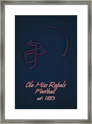 Ole Miss Rebels Helmet 2 Framed Print by Joe Hamilton