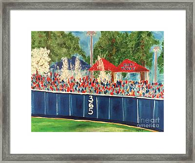 Ole Miss Swayze Beer Showers Framed Print by Tay Cossar Morgan