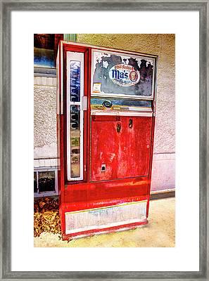 Ole Tyme Vending Machine Framed Print by Geraldine Scull