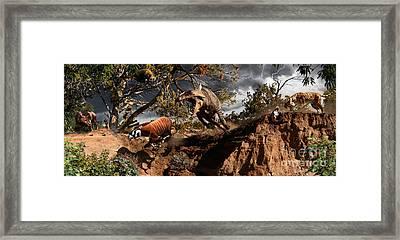 Oligocene Mural Framed Print