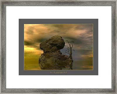 Olim - Quondam - Surrealism Framed Print by Sipo Liimatainen