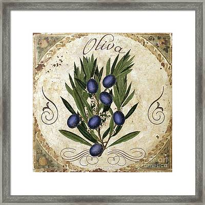 Oliva Black Olives Framed Print by Mindy Sommers