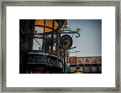 Olivanders' Wand Shop Framed Print by Luis Rosario