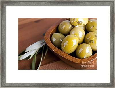 Olive Bowl Framed Print by Jane Rix
