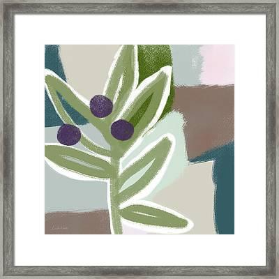 Olive Branch 1- Art By Linda Woods Framed Print