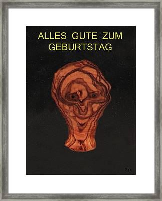 olive grain in the stars German Framed Print by Eric Kempson