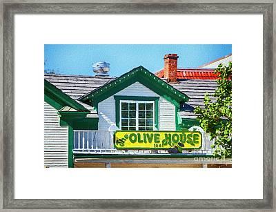 Olive House Framed Print by David Millenheft