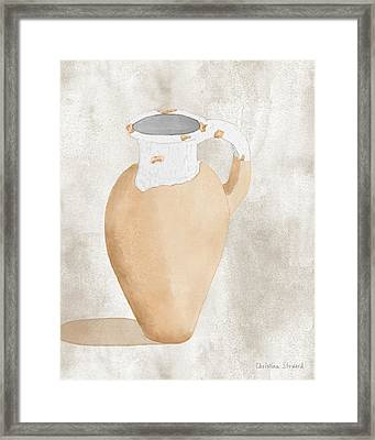 Olive Jar Framed Print by Christina Steward