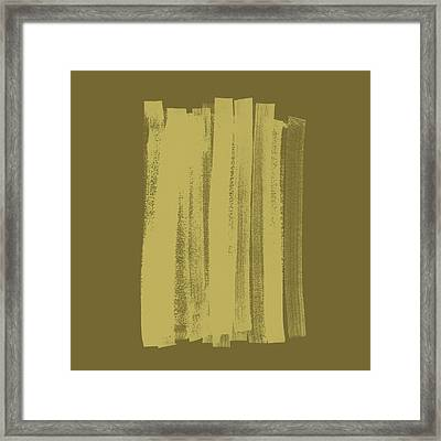 Olive On Olive 1 Framed Print by Julie Niemela