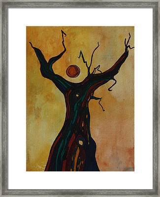 Olive Tree Woman Framed Print
