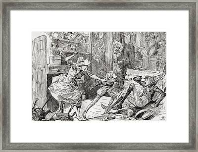 Oliver Aroused. The Cruel Insult Framed Print by Vintage Design Pics
