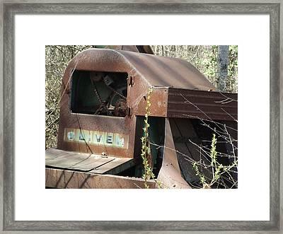 Oliver Corn Picker Antique Farm Machinery IIi Framed Print