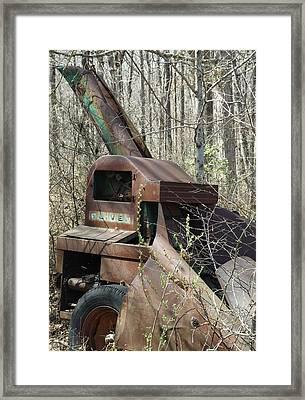 Oliver Corn Picker Antique Farm Machinery Iv Framed Print