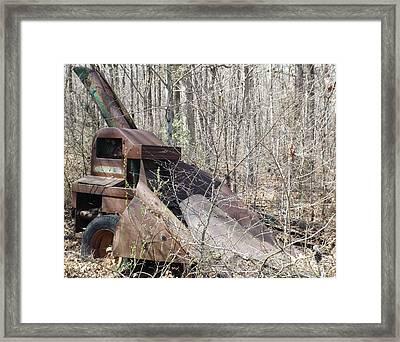 Oliver Corn Picker Antique Farm Machinery V Framed Print
