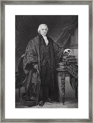 Oliver Ellsworth 1745-1807 Framed Print by Vintage Design Pics