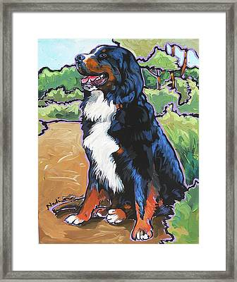 Framed Print featuring the painting Oliver by Nadi Spencer