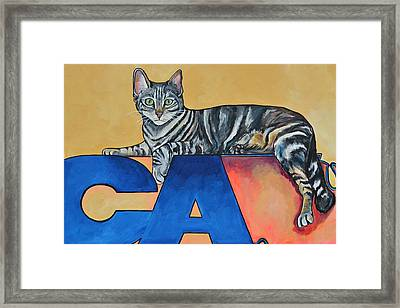 Framed Print featuring the painting Oliver by Patti Schermerhorn