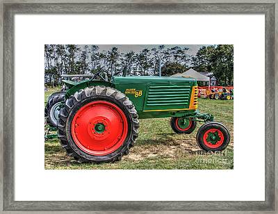 Oliver Tractor Row Crop 88 Li.ny Framed Print