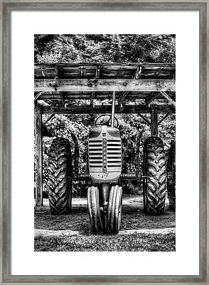 Oliver Tractor Framed Print by Nick  Shirghio
