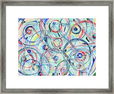 Olives And Martini Glasses Framed Print