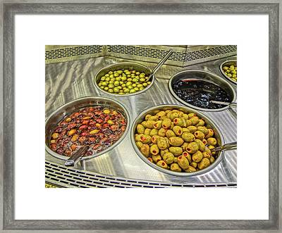 Olives Framed Print by Bruce Iorio