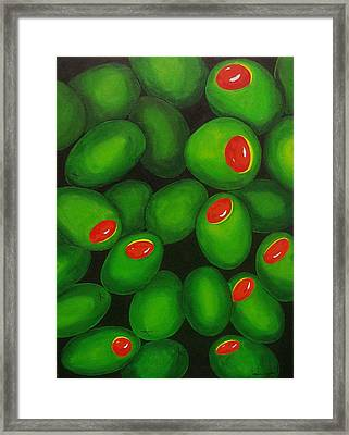 Olives Framed Print by Micah  Guenther