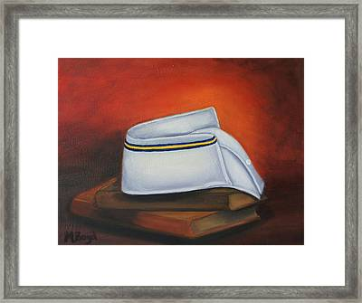 Framed Print featuring the painting Olivet Nazerene University  by Marlyn Boyd