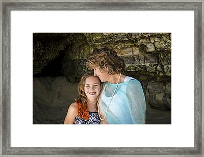 Olivia And Toni Framed Print