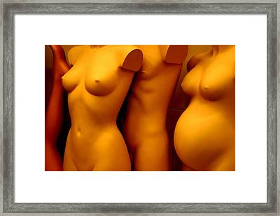 Olivia At The Back Framed Print by Jez C Self