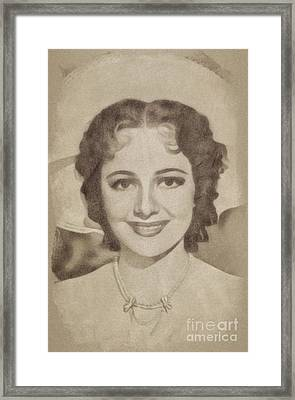 Olivia De Havilan, Vintage Actress By John Springfield Framed Print by John Springfield