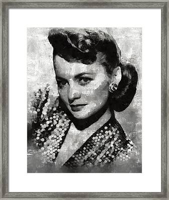 Olivia De Haviland By Mary Bassett Framed Print by Mary Bassett