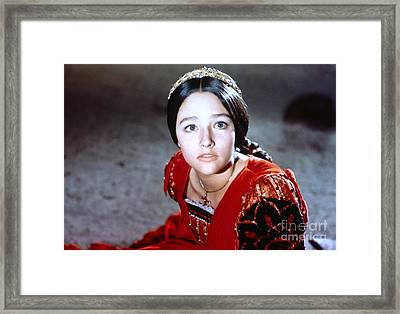 Olivia Hussey In Romeo And Juliet Framed Print