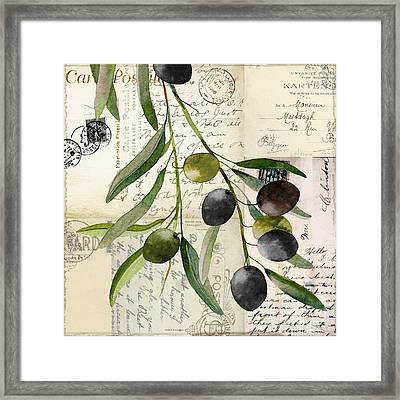 Olivia I Framed Print by Mindy Sommers