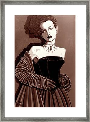 Olivia In Sepia Tone Framed Print by Tara Hutton