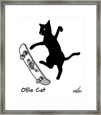 Ollie Cat Framed Print