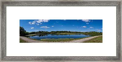 Ollies Pond In Port Charlotte, Florida Framed Print