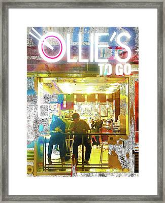 Framed Print featuring the mixed media Ollie's by Tony Rubino