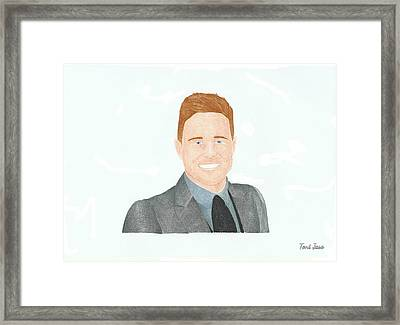 Olly Murs Framed Print by Toni Jaso
