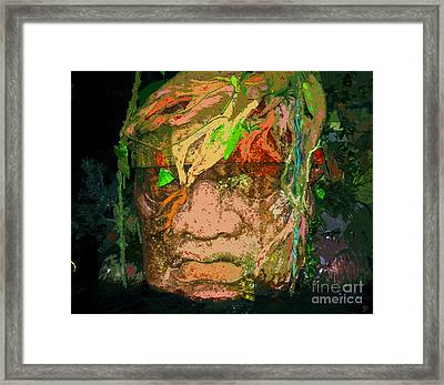 Olmec Man Framed Print by David Lee Thompson