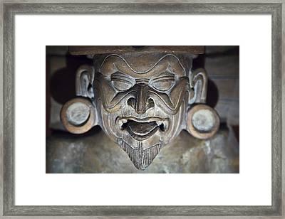Olmec Statue2 Framed Print by John  Bartosik