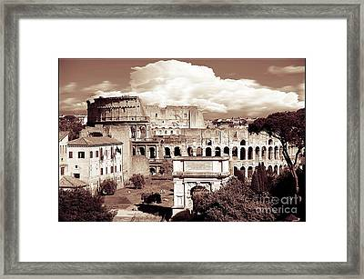 Colosseum From Roman Forums  Framed Print