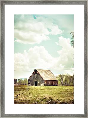 Olsen Barn In Green Framed Print