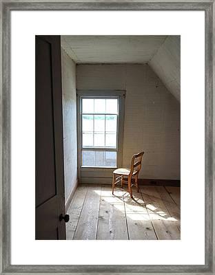 Olson House Chair And Window Framed Print