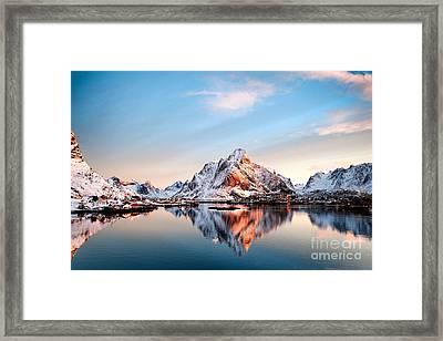 Olstind Reflection Framed Print