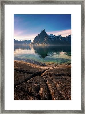 Olstinden Framed Print by Tor-Ivar Naess