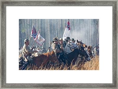 Olustee Confederate Charge Framed Print by Kenneth Albin
