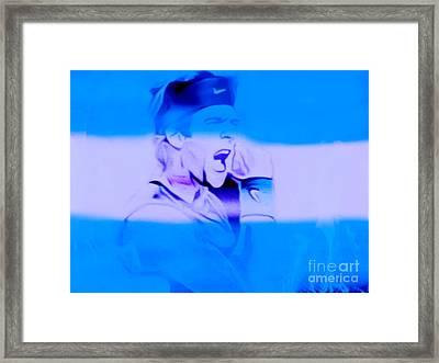 Olympia 2016 Hereos Juan Martin Del Potro Framed Print by Felix Von Altersheim