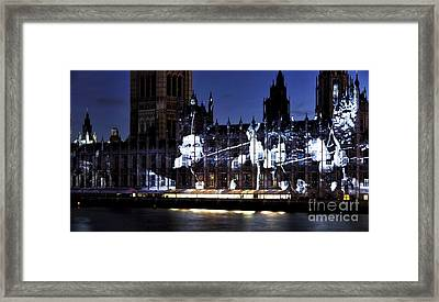 Olympic Archer On Parliament Framed Print