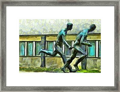 Olympic Athletes - Da Framed Print by Leonardo Digenio